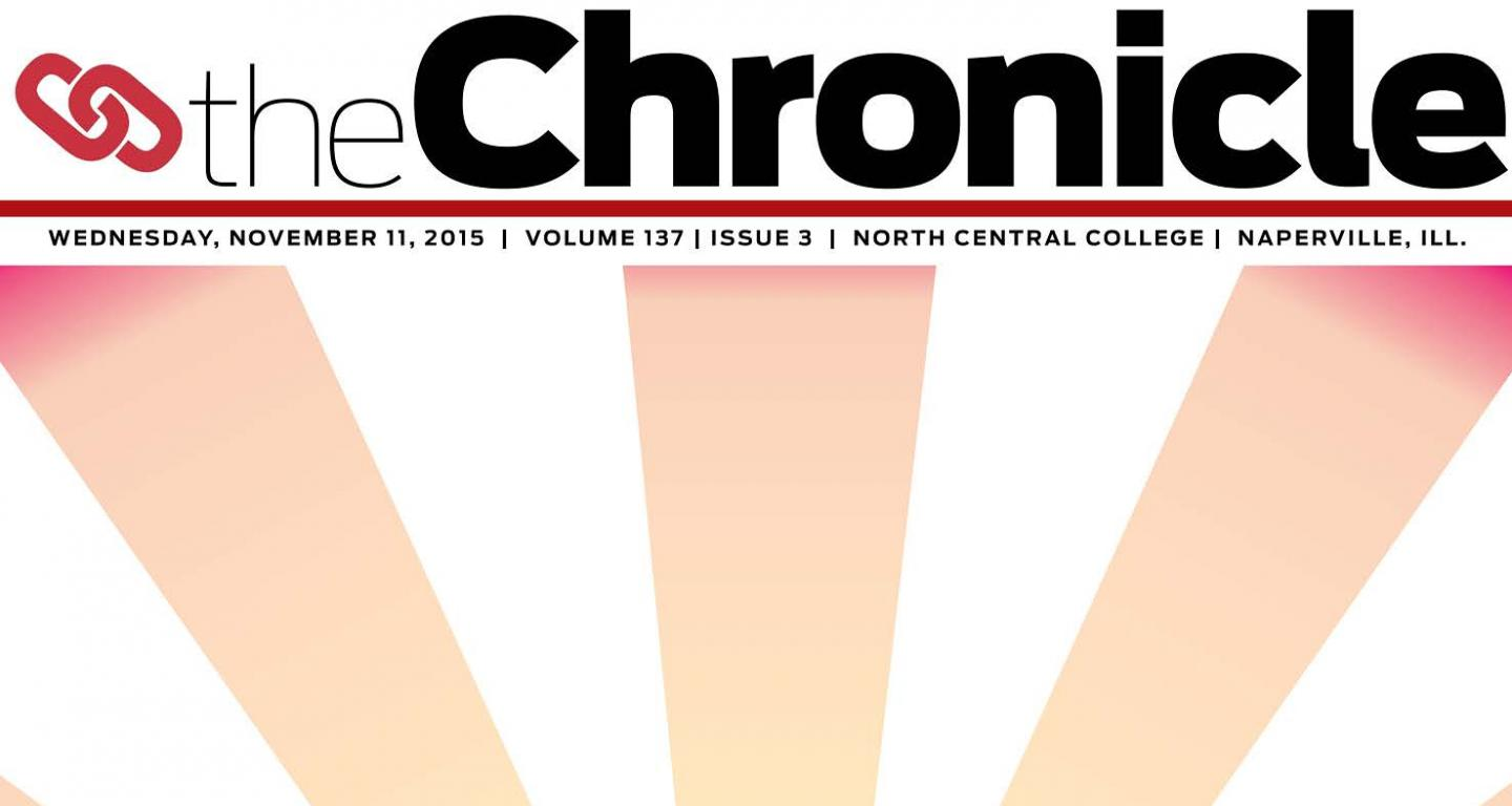 Front page of North Central College Chronicle
